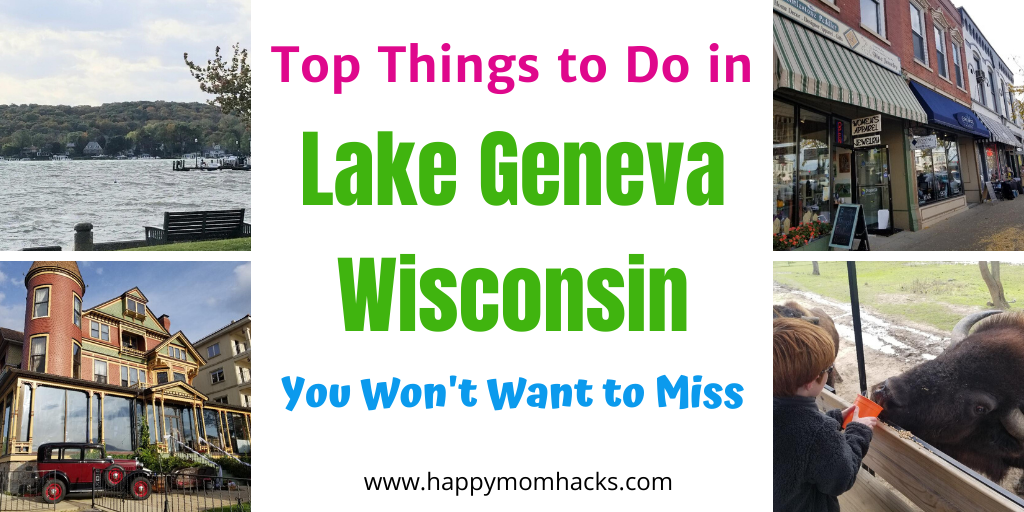 Best Things to do in Lake Geneva Wisconsin with Kids. HIke through state parks, stoll downtown, visit Lake Geneva Museum, restaurants and more. Everythign you'll want to see on a weekend getaway to Lake Geneva WI. #lakegeneva #wisconsin #thingstodolakegeneva