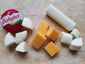 Add your child's favorite cheese to the Lunch Kabob