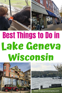 Best Things to do in Lake Geneva with Kids. A fun weekend getaway for the whole family from strolling downtown, beaches, hikes a cool safari and more. Find out what you can't miss and plan a great family vacation. #lakegeneva #lakegenevawi #weekendgetaway #wisconsingetaway