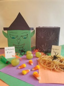 Make a Halloween Mystery Box or Sensory box with spooky items the kids will squeal to touch. Put inside the box grapes for eyes, candy corn for teeth, spaghetti for brains and more. Find out how easy these are to make. They are sure to be the hit of your next Halloween Party.