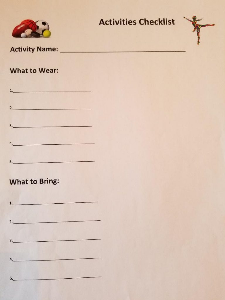 How to be Organized for School - Freebie Printable Kids Activity Checklist