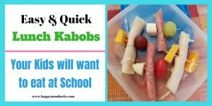 Need some easy Lunchbox Ideas? Lunch Kabobs are quick and easy to make plus kids love them. You can adjust them to your kids taste to make sure all their lunch is finished. Try them today! #lunchboxideas #lunch #kabobs #kids