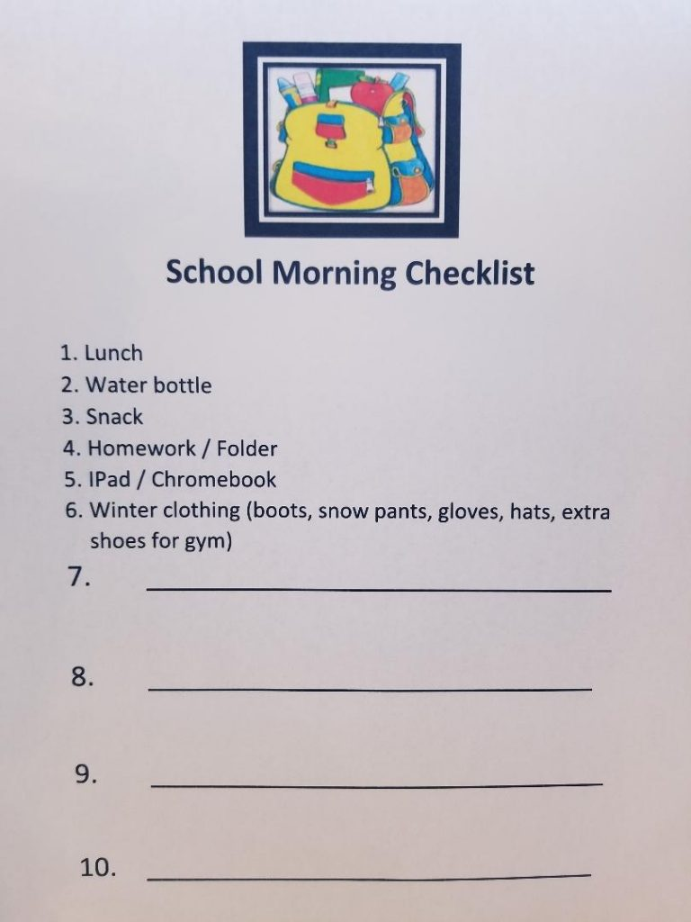 How to Get Organized for School - Before School Freebie Printable Checklist