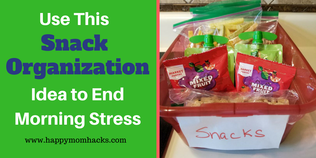 Easy Snack organization ideas for kids to make your life simpler.  #snackorganizationideas, #organization, #kids