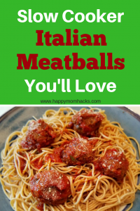 Healthy & Easy Slow Cooker Italian Meatballs recipe. These homemade crock pot meatballs are great for weeknight dinners or party appetizer. Feed your family a delicious and healthy meal with ground turkey, Italian sausage, quinoa, and zucchini. #italianmeatballs, #partyappitizer, #familymeal, #slowcooker, #crockpot
