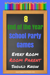 8 Awesome School Party Ideas for Room Parents. Need a quick and easy game for End of the year party, Holloween, holiday party or just a fun day at school? These games are super easy and the kids will have a blast