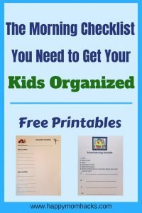 Get ready this school year with these organizing ideas for kids. Make your moring routine for school easier by using this checklist. Bouns free printable for the after school sports and kids activities. Never forget things again! #schoolorganization, #freeprintables, #freechecklists