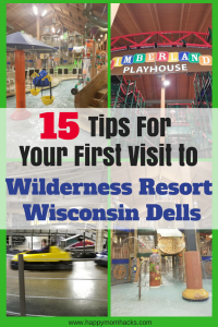 15 Tips for your First Visit to the Wilderness Resort Wisconsin Dells, Families have so much fun at this resort between with all the cool things to do like pools, arcade, go karts, laser guns and ropes course your family will love it. Be prepared for you trip with tips on where to park, which room to stay in, restaurants to eat at, activities to do and more. #WildernessResort, #wisconsinDells, #familytravel, #familytrip, #traveltips