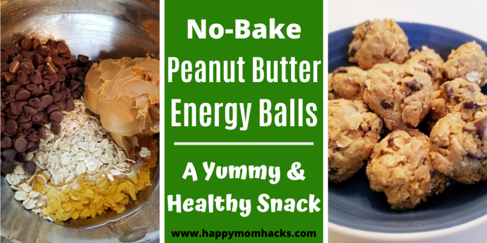 4 Ingredient Peanut Butter Energy Balls Recipe. A no bake recipe that's easy to make and your kids will love. These healthy energy balls have oatmeal, peanut butter, chocolate, and honey. Great healthy snack. #energyballs, #healthysnack, #nobakerecipe