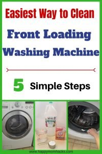 How to clean a washing machine in 5 easy steps. Get the smell and mold out of your front load washer with a mixture of bleach, vinegar and baking soda. Save money and clean your washer yourself!