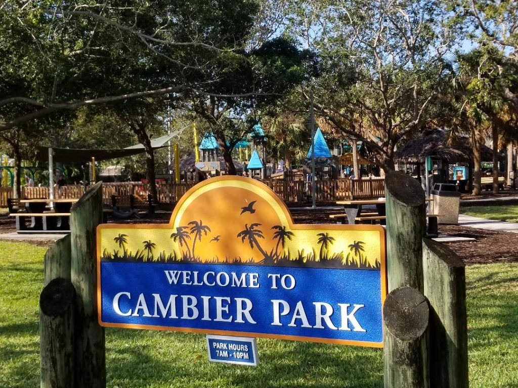 Great Naples FL Playground is Cambier Park. It's has fun playground equipment for all ages and offers concerts in the park. Located in walking distance to 5th Avenue in Naples. #naples #florida #playground #park