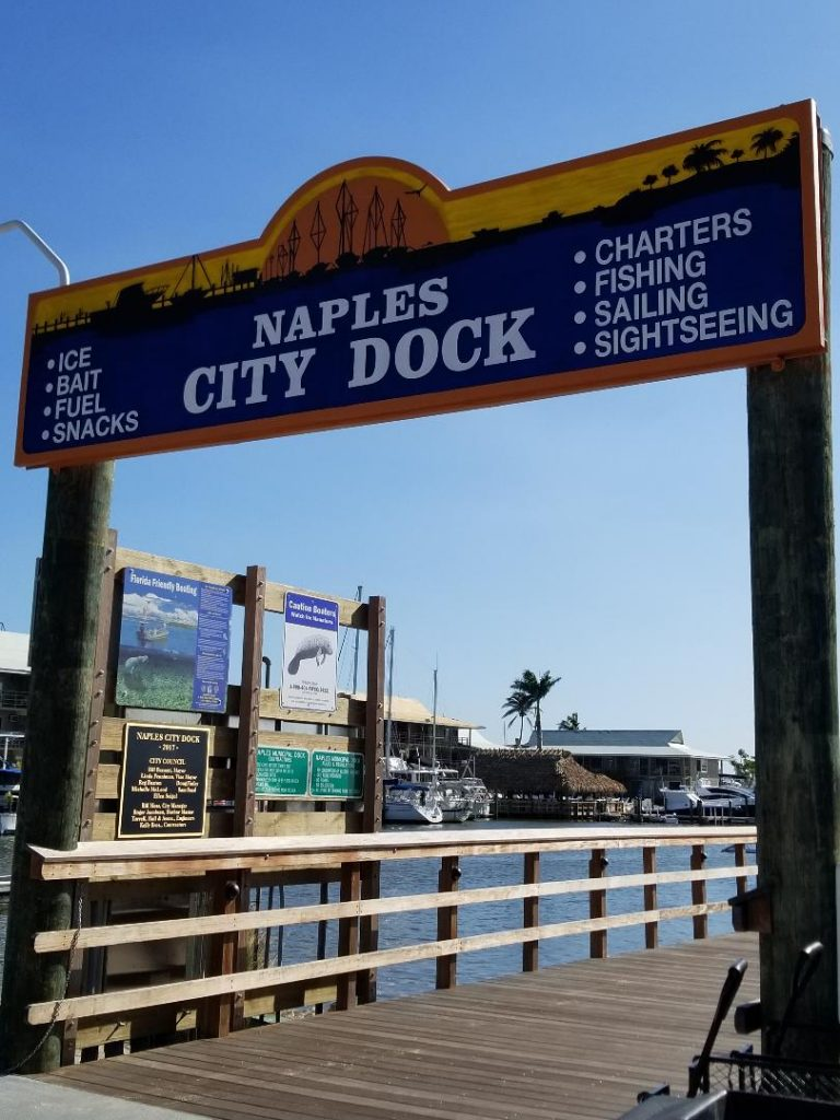 Visit Naples City Dock at Crayton Cove to walk the pier and see boats, fish, dolphins and manatee. There is also a nice restaurant on the waterway.