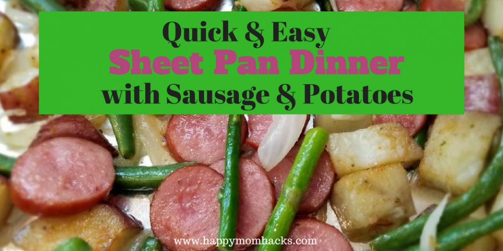 Sheet Pan Dinners are a quick weeknight meal. Try this Suasage and Potatoes meal this week.