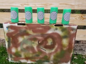DIY Nerf Gun Targets to use at the birthday party.