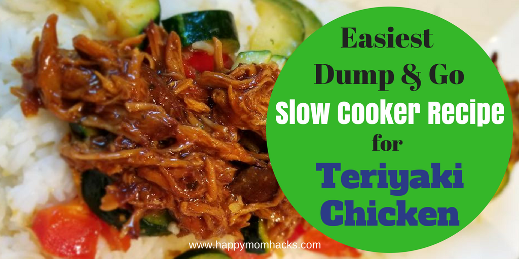 Slow Cooker Teriyaki Chicken Recipe. An Easy Dump and Go recipe your whole family will love! Find out how to make two dinners from one batch. #crockpot #easymeals #familydinner #chicken #teriyakichicken