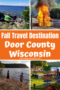 Door County Wisconsin in the Fall. Best Things to do with kids. Travel to Door County to hike state parks, swim in Lake Michigan & Green Bay. Find out the best places to visit and restaurants to eat.  #doorcounty #travelwisconsin #travelwithkids #familytravel