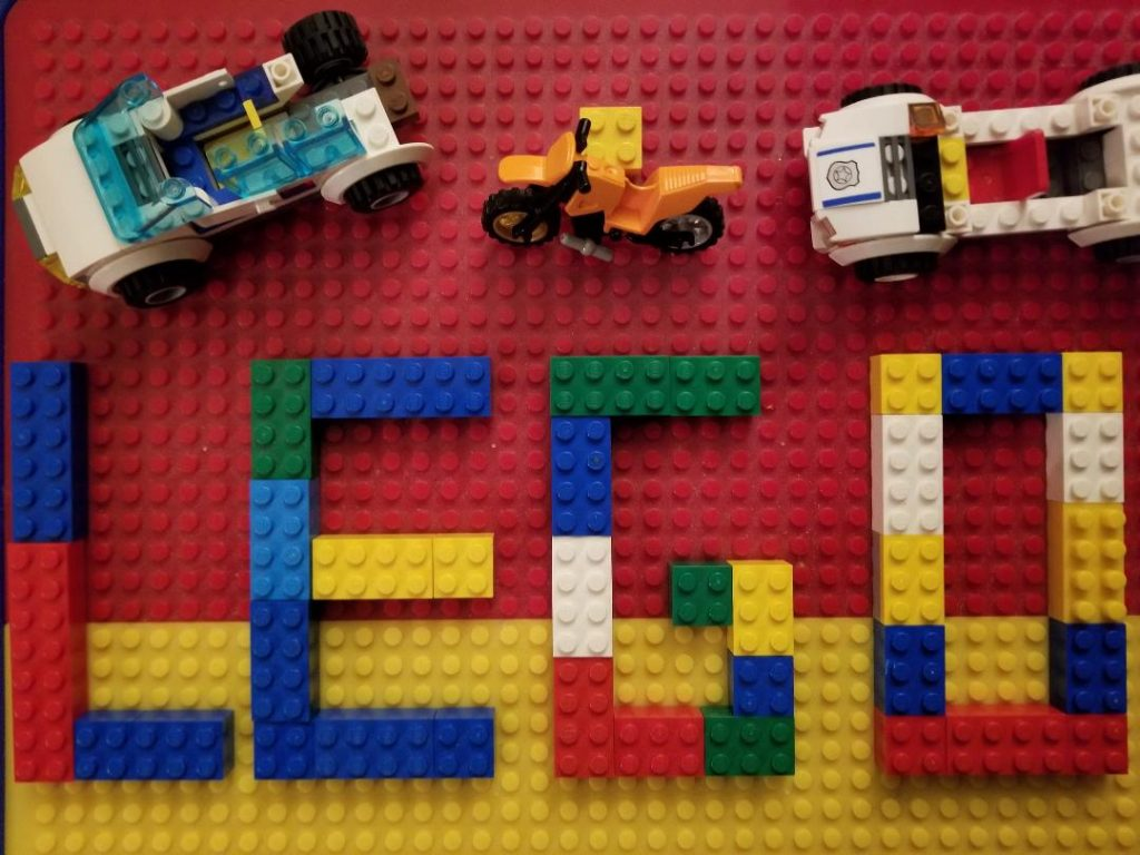 A Lego Challenge is a great free activity for kids to do at home.