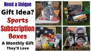 Sports Subscription Boxes are a fun Birthday & Christmas Gift Idea for Kids. They'll be thrilled each month when they open a box filled with items from their favorites sports. Each box is chosen with a child's age so their sure to get the perfect gift. Give the gift that keeps coming with these fun Sports Subscription Boxes. #gifts #giftideas #christmasgifts #birthdaygifts #subscriptionboxes #sports #boys #girls