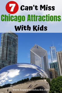 Chicago Attractions You can't miss with kids. The best Things to do and see in the city. Visit cool museums, amazing parks like Maggie Daley Park and Millennium Park and more. Plus helpful tips for a great visit! #chicagoattractions # chicago #chicagowithkids #familyvacation #familytravel