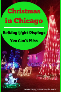 Christmas in Chicago -Things to Do in the winter with kids. What could be a better holiday outing then seeing all the Holiday Lights Displays In Chicago. This is the Ultimate list of the best light displays for families. #christmasinchicago, #holidaylights, #thingstodochicago