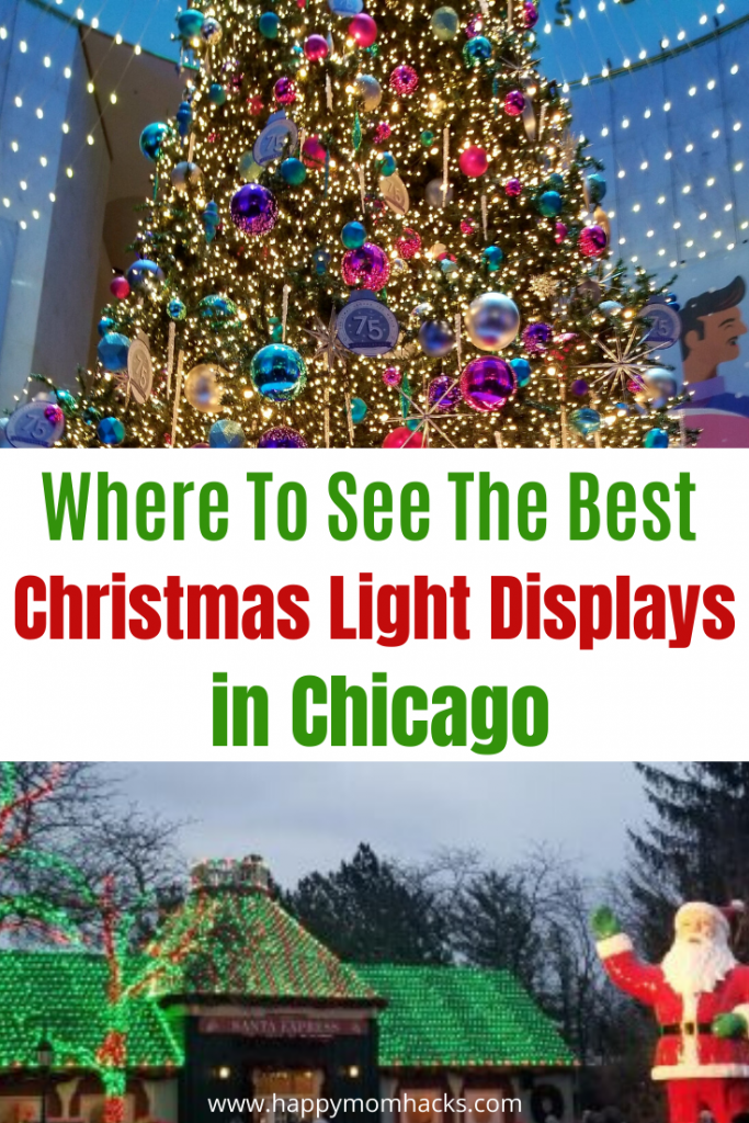 Christmas in Chicago -Top Holiday Light Displays to see with kids. Guide to fun Things to do for the Christmas Holidays throughout the Chicago Area. #chicago #thingstodoinchicago #Christmas #holidaylightdisplay #Christmaslights #kids