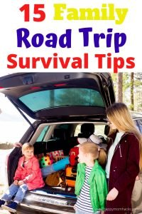 Best Road Trip Survival Tips for Kids. Make your next family vacation stress free with these easy road trip hacks. Plus fun games and activities for kids. Make your next family trip one you won't forget. #familyvacation #roadtrip #summer #familytravel #travelwithkids