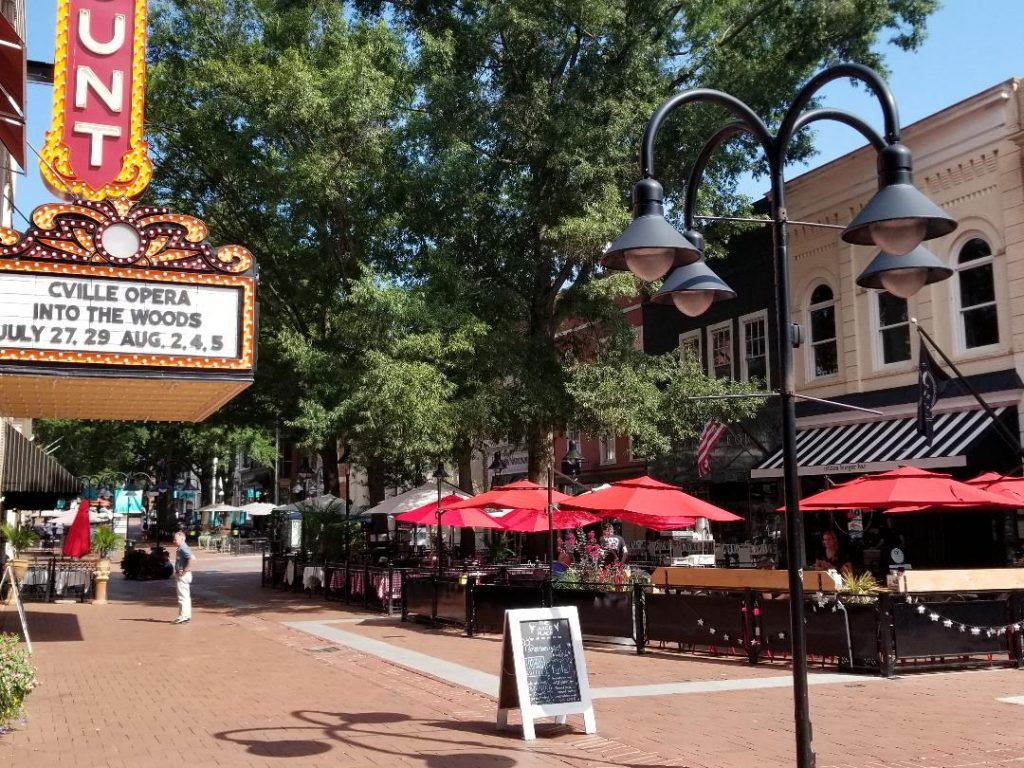 Visit Downtown Charlottesville Virginia. Stroll the cobblestone streets, restaurants and shops. All located close to the Shenandoah Valley.