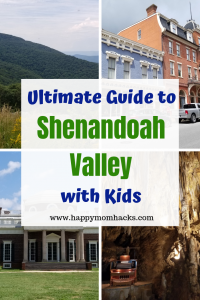Ultimate Guide to Shenandoah Valley Virginia. Perfect vacation with kids. Visit Shenandoah National Park, museums and Luray Caverns. Plus check out Winchester and Staunton VA two cute small town with lots to do. Take a drive on the Blue Ridge Parkway on Skyline Drive. Plan your perfect family vacation.