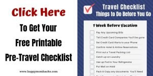 Free Printable Ultimate Pre Travel Checklist for Family Vacation. Everything you need to do before leaving on Vacation. #familyvacation #travelchecklist #freeprintable #checklist