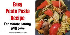 Delicious Creamy Pesto Pasta with Sausage. An Easy recipe for quick weeknights meals. A dinner your whole family with love. #pasta #pesto #familydinner #easymeals