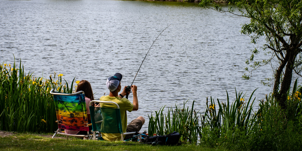 Fishing is a great free activity for kids. Enjoy a day outside without spending any money. Get more ideas in our list of 60 Free Things to Do with Kids in the Summer.
