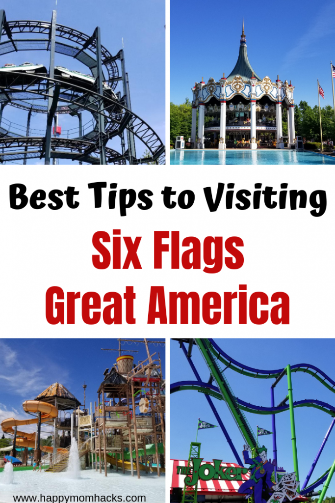 Best Tips & Hacks for Six Flags Great American. What to bring and how to save money while visiting the park. Plus holiday events and tip on Hurricane Harbor water park. This guide will have you ready for an awesome day out! #amusementpark #sixflags #traveltips #amusementtips #familytravel