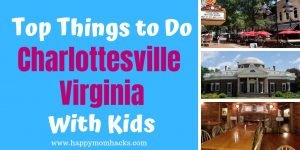 Top Things to Do in Charlottesville VA with Kids. Ideas & Tips for visiting the Historic Downtown Mall, Monticello, University of Virginia, & Virginia Discovery Museum. Try our favorite period restaurant Michie Tavern and even take a few fun day trips to Shenandoah National Park and Shenandoah Valley. There is so much to do!! #virginia #travelwithkids #familytravel #familyvacation #kids #charlottesvilleVA