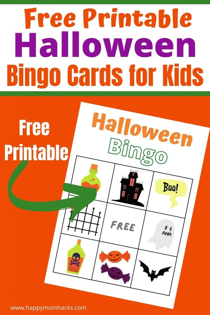 Fun Halloween Bingo Cards - FREE Printable party game for school parties, Halloween Parties, and family game nights. This easy holiday game has 9 different game boards and pictures to cut out and call out to the kids. Just print out pdf bingo cards and you'll be ready to play. It's that easy!