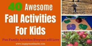Fun Fall Activities for Kids -40 Things to do in the fall for families. Find awesome outdoor and Indoor Activities. Plus fall crafts for the kids and weekend getaways to watch the leaves change. Enjoy the autumn season making fun family memories. #fall #activitiesforkids #crafts #weekendgetaways #fallactivities