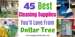 45 Best Cleaning Supplies at Dollar Tree and how to make an organizational Caddy. These must have products will clean your whole house. Let me help you find the cleaning items that will work for you! #cleaning #cleaningsupplies #organization #dollartree