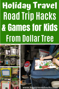 15 Awesome Travel Games for Kids. Perfect for Road Trips and Airplane rides. These Dollar Tree activities will keep your kids busy in the car and save you money. Click to find out the best games & travel gadgets at Dollar Tree. #travelgames #travelwithkids #familytravel #roadtrip
