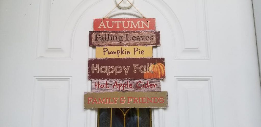 Cheap fall decoration sign for your door from Dollar Tree.