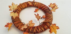 DIY Wreath a fun Fall Decoration with items from Dollar Tree
