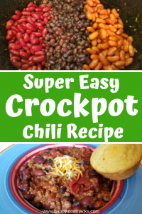 Best Turkey Crockpot Chili Recipe on Pinterest. Super easy to make and quick to throw together with ground turkey, bean, tomatoes and spices. It's the ultimate comfort food on a cool day. Make it tonight! #crockpot #slowcooker #chili #turkeychili #comfortfood #easymeals
