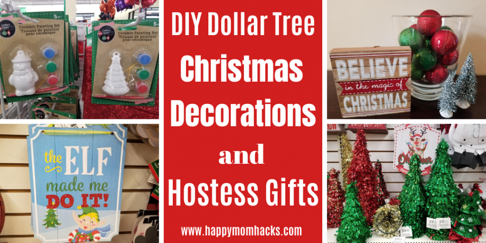 Fun DIY Dollar Tree Christmas Decorations & Gifts. How to easily decorate your home, kids crafts, stocking stuffers and hostess gift ideas. All for $1! A huge budget saver this holiday. #dollartree #dollarstore #christmasdecor #christmasdecorations #hostessgift #stockingstuffers #giftideas #christmas