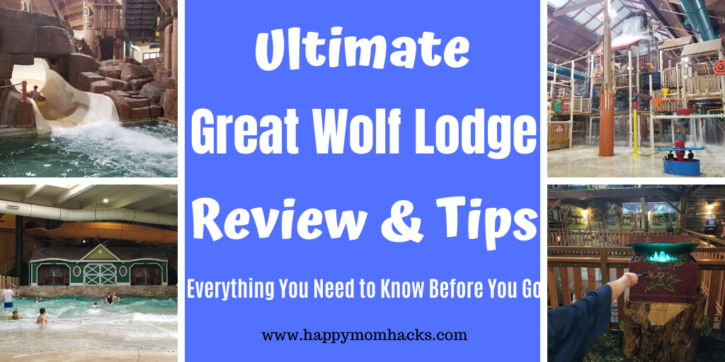 Best Great Wolf Lodge Review & Tips - What to expect at the Water park, accommodations, activities, dinning and more. Wisconsin Dells   California   Ohio   Michigan and more. Be ready for a great trip! #greatwolflodge #waterpark #wateparkresort #familyvacation #wisconsindells