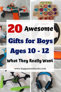 20 Gift Ideas for Boys Age 10, 11, and 12. Fun gift Ideas kids and families will love. A mix of awesome toys, games and electronics you can buy off Amazon. An easy way for parents to shop for great gifts. #giftideas, #kidsgifts, #birthdaygifts, #holidaygifts