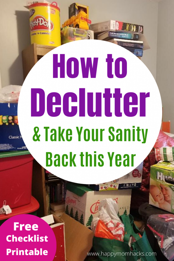 How to Declutter & Simplify your home with easy organization tips. Plus storage solutions for the kitchen, playroom, office and more. Don't get overwhelmed with the clutter use these simple steps to take your home back. #declutter #organizationtips #organization #simplify #declutteryourhome