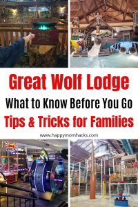 Great Wolf Lodge Tips for Families. Find out what to expect from MagiQuest, Waterpark, Arcade, activities for kids, dinning & what to pack. Plus all the fun activities in Wisconsin Dells. Find out why It's an awesome family getaway. #familygetaway #familyvacation #waterpark #greatwolflodge #wisconsindells #indoorwaterpark