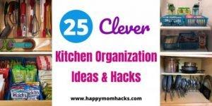 25 Clever Kitchen Organization Ideas & Hacks.