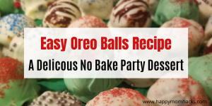 Super Easy Oreo Balls Recipe - Learn how to make these amazing No Bake Oreo Balls that are simple & taste delicious. I'll show you how to decorate them for every holiday too. The Perfect Party Desserts #nobakedessert #oreoballs #cakeballs #oreoballrecipe #nobakerecipe #3ingredient #3ingredientrecipe
