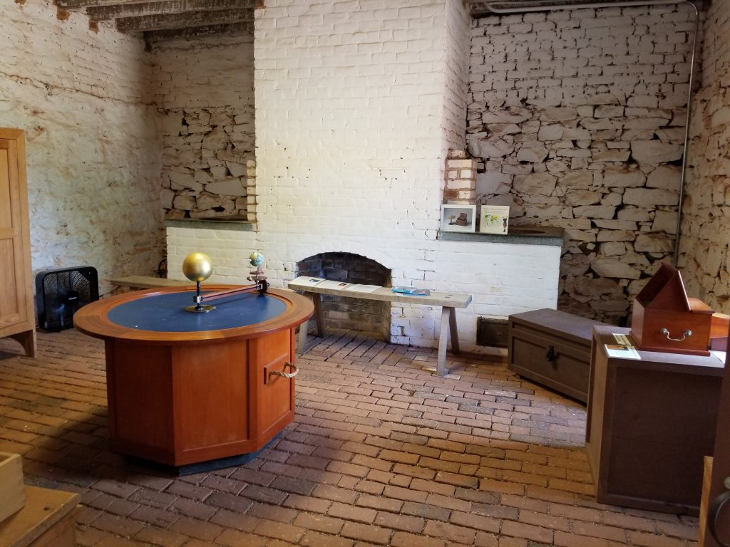 North Wing of Thomas Jefferson's Home with his experiments.