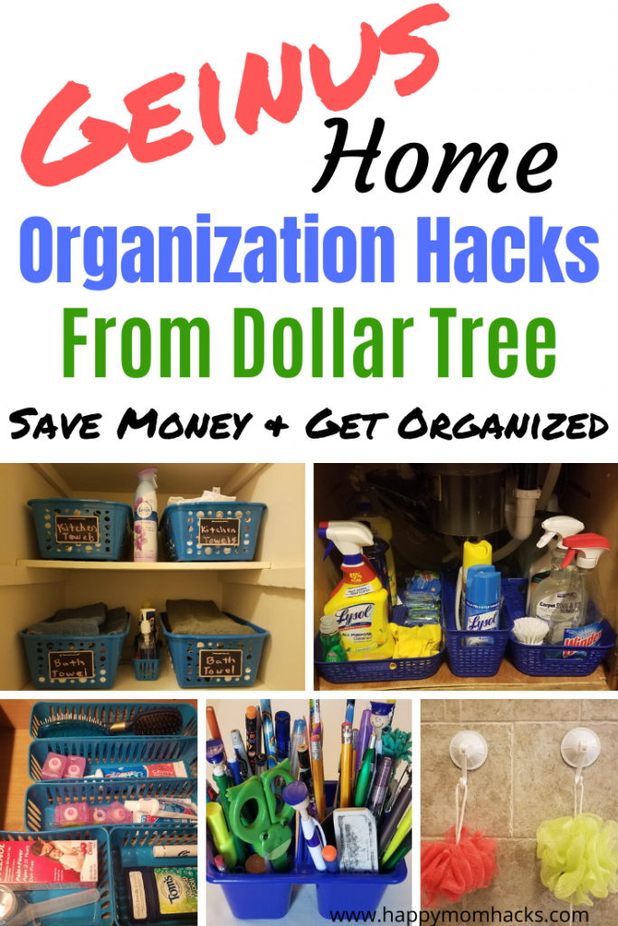 17 Clever Home Organization Hacks from Dollar Tree. Easy DIY Ideas to declutter & organize your closets, kitchen, bathrooms and more. Check out these cool hacks and get started today! #decluttering #organization #homeorganization #dollartree #dollarstore