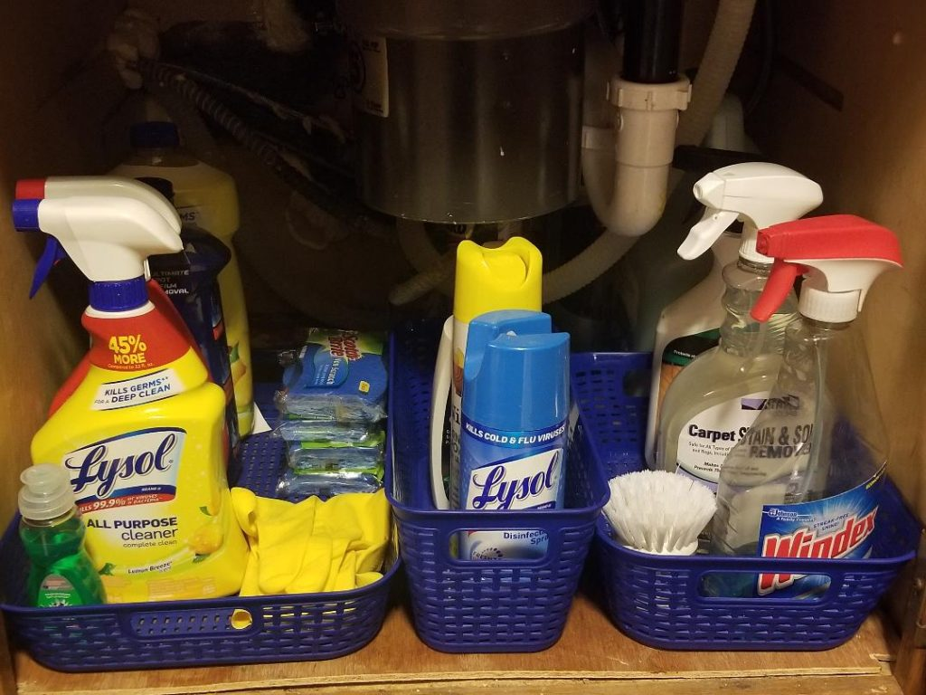 Organization for Cleaning Supplies